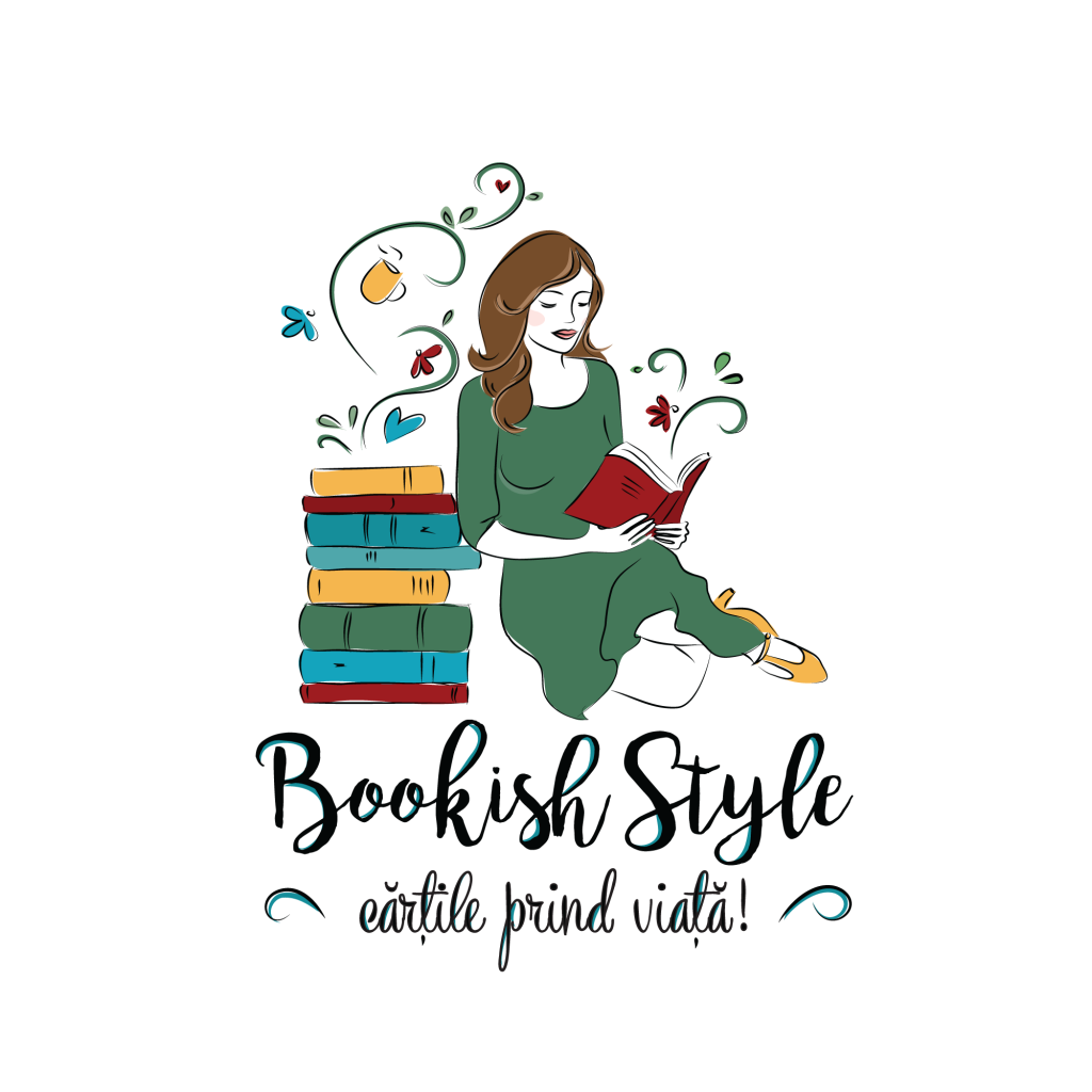 Logo Bookish Style vertical fundal alb
